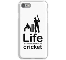Cricket v Life - Black Graphic iPhone Case/Skin