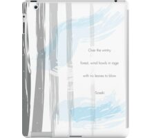 Wintry Forest Design iPad Case/Skin