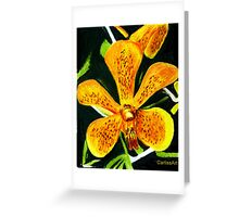 Yellow Spotted Orchid Greeting Card