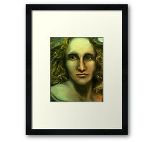 Portrait of Mary Shelley - Caught Between the Moon and Candlelight (1797 - 1851) Framed Print