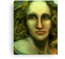 Portrait of Mary Shelley - Caught Between the Moon and Candlelight (1797 - 1851) Canvas Print