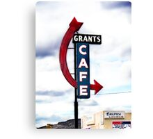 grants cafe, route 66, grants, new mexico Canvas Print