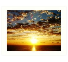 Sunrise over the sea . Art Print