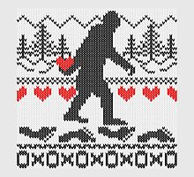 Gone Squatchin For Love Sweater Knitting Style by Garaga
