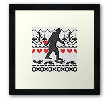 Gone Squatchin For Love Sweater Knitting Style Framed Print