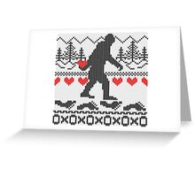 Gone Squatchin For Love Sweater Knitting Style Greeting Card