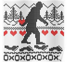 Gone Squatchin For Love Sweater Knitting Style Poster