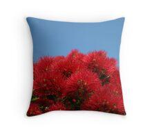 Pohutukawa Bloom Throw Pillow