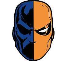 deathstroke - mask (less detail) Photographic Print