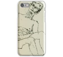fara monoprint - sitting with clasped hands iPhone Case/Skin