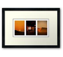 Dubai at Dusk Framed Print