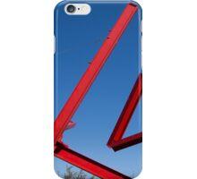 red sculpture iPhone Case/Skin