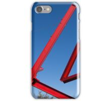red sculpture iPhone Case/Skin