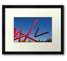 red sculpture Framed Print