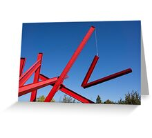 red sculpture Greeting Card