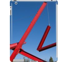red sculpture iPad Case/Skin