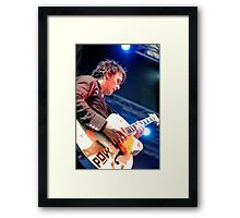 Chris Cheney with Gretsch Guitar Framed Print