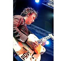 Chris Cheney with Gretsch Guitar Photographic Print
