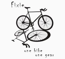 Fixie - one bike one gear (black) by Stefan Trenker