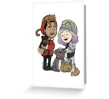 Zayn, Perrie, and Pets Greeting Card