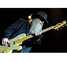 Dusty Hill - ZZ Top Photographic Print