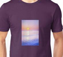 Milky sunrise over ocean Unisex T-Shirt
