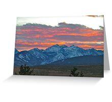 Three Sister Sunset Greeting Card