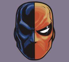 deathstroke - mask (more detail) Kids Tee