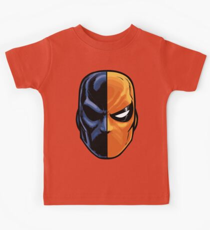 deathstroke - mask (more detail) Kids Tee