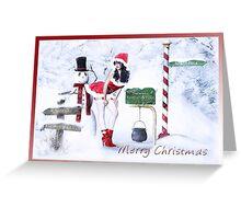 Rogue Snowman Greeting Card