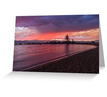 Zephyr Cove Sunset Greeting Card