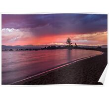 Zephyr Cove Sunset Poster