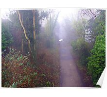 Foggy Path Poster