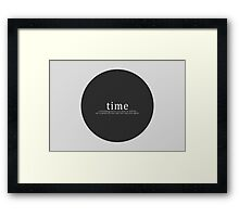 Time is a Flat Circle - True Detective Framed Print