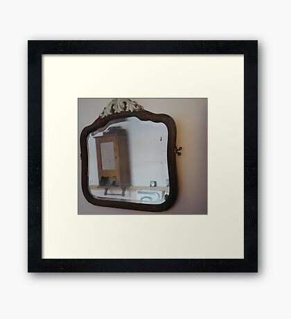 0016 - HDR Panorama - Mirror and Cabinet Framed Print