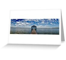"""Crawley Edge"" Boatshed, Perth, Western Australia Greeting Card"