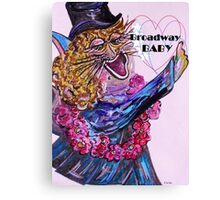 Broadway BABY CAT Canvas Print