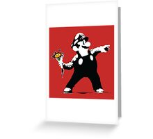 2 Bit Flower Thrower Greeting Card