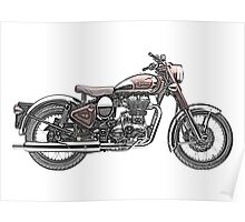 Royal Enfield Motorcycle Poster