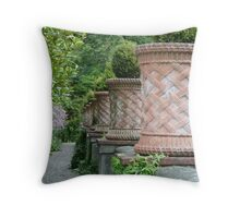Pots at Bantry House Throw Pillow