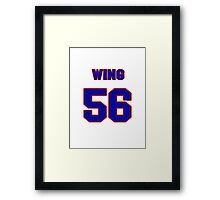 National football player Chris Wing jersey 56 Framed Print