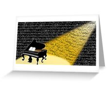 Evening Notes Greeting Card