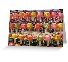 Budda's Birthday-Lanterns Greeting Card