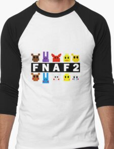 Five Nights At Freddy's 2 Pixel Shirt Men's Baseball ¾ T-Shirt
