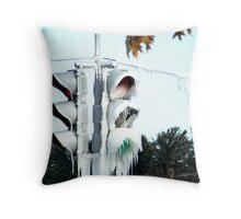 Frozen Signals Throw Pillow