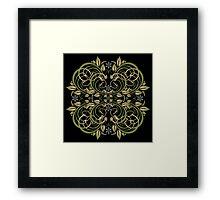 green vintage pattern Framed Print