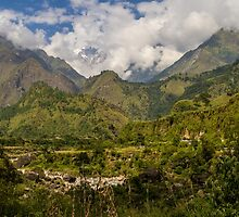 Valley in the Himayalas of Nepal by journeysincolor