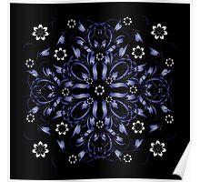 blue vintage pattern Poster