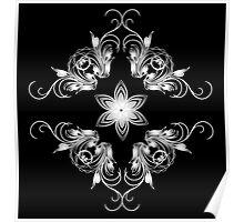 grey vintage pattern Poster
