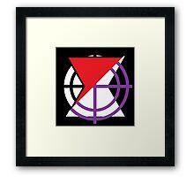 Black Widow/Hawkeye Mash Up Framed Print